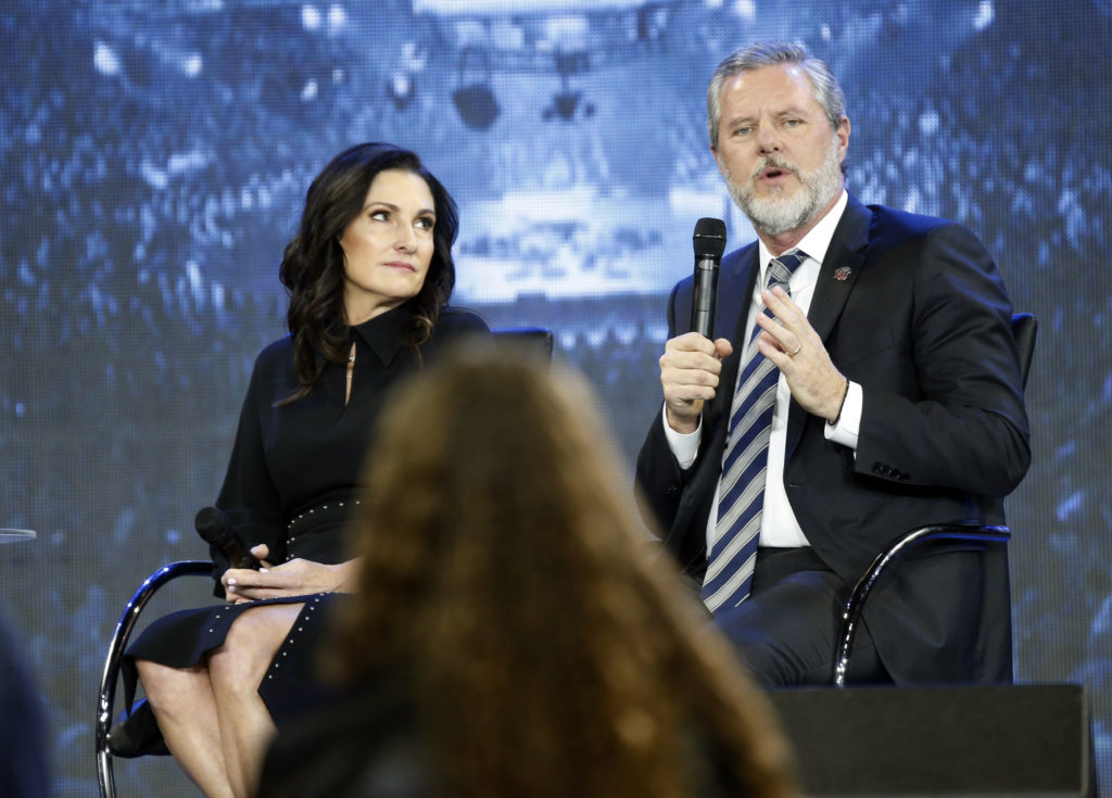 Jerry Falwell Jr and Becki Falwell