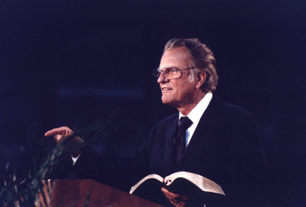 Billy Graham speaks at Crusade