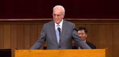 John MacArthur Speaks to his congregation