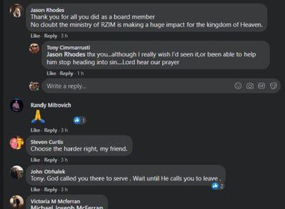 RZIM Board Reply 2