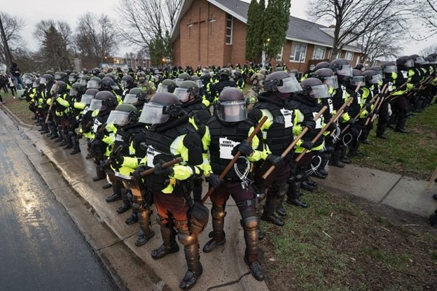 Police church protesters