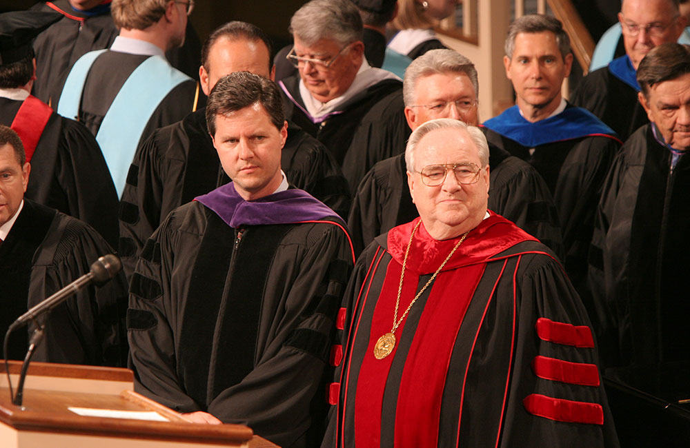 Jerry Falwell, Sr., and Jr.