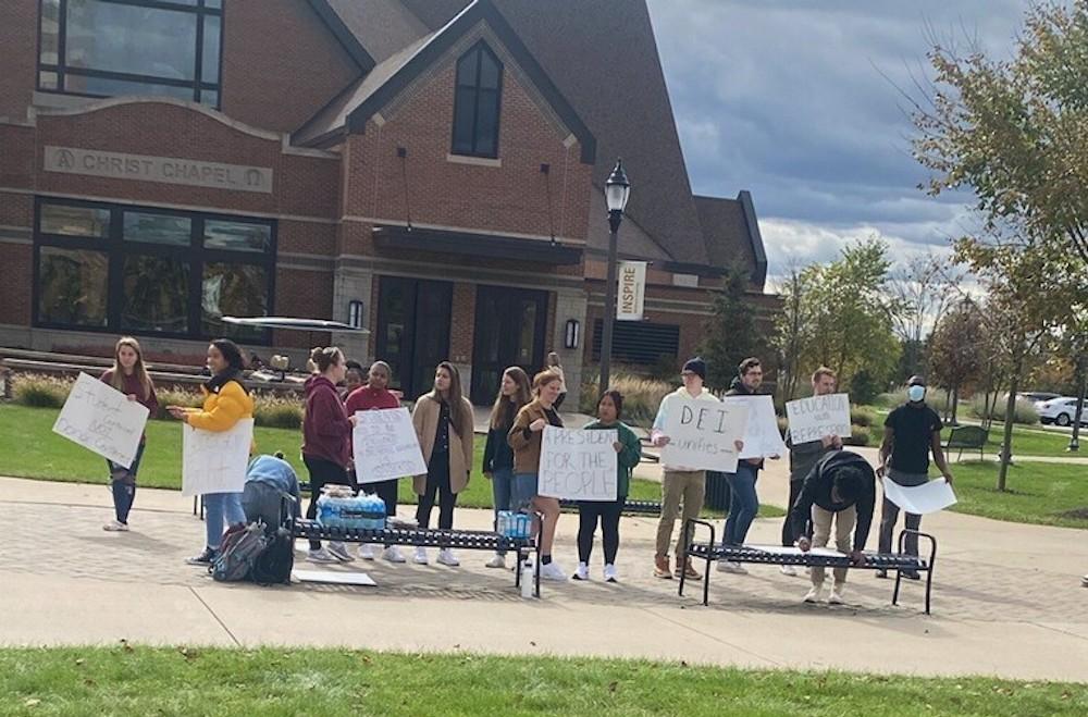 Cornerstone students protest